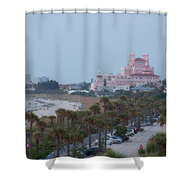 Don Cesar Shower Curtain Featuring The Photograph Hotel St Pete Beach Florida By John