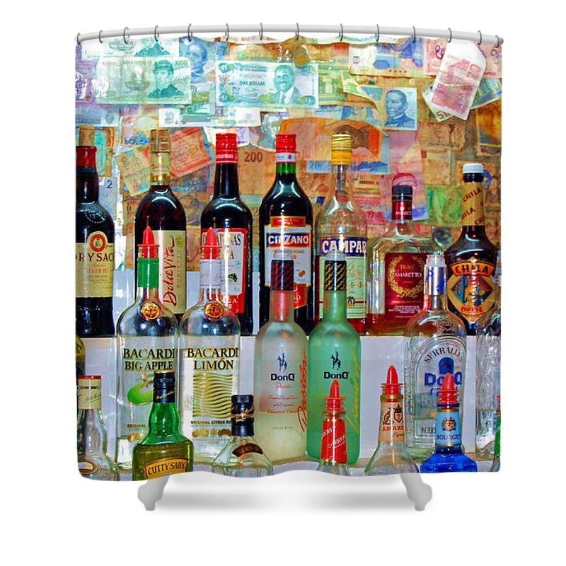 Liquor Shower Curtain featuring the photograph Don Q by Debbi Granruth