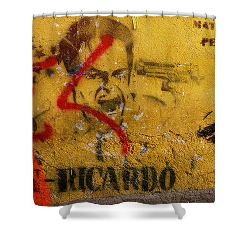 Grafitti Shower Curtain featuring the photograph Don-ricardo by Skip Hunt