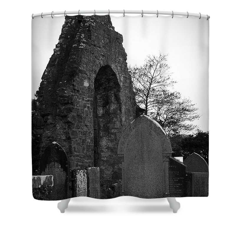 Irish Shower Curtain featuring the photograph Donegal Abbey Ruins Donegal Ireland by Teresa Mucha
