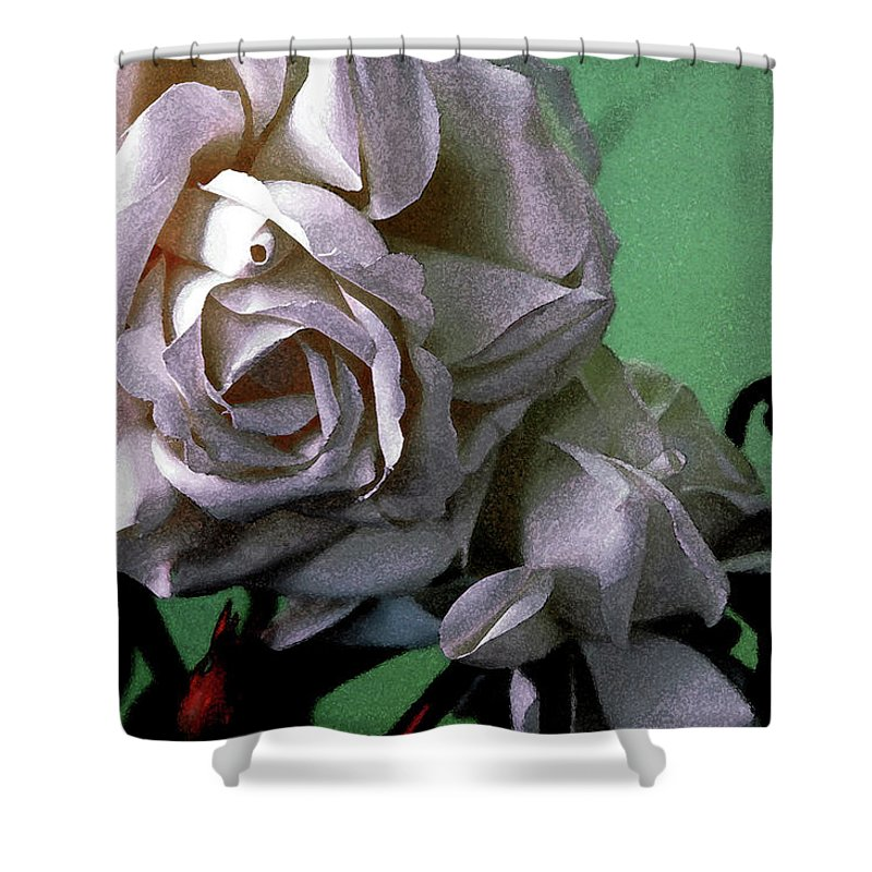 White Rose Shower Curtain featuring the photograph Dont Be Sad by Susanne Van Hulst