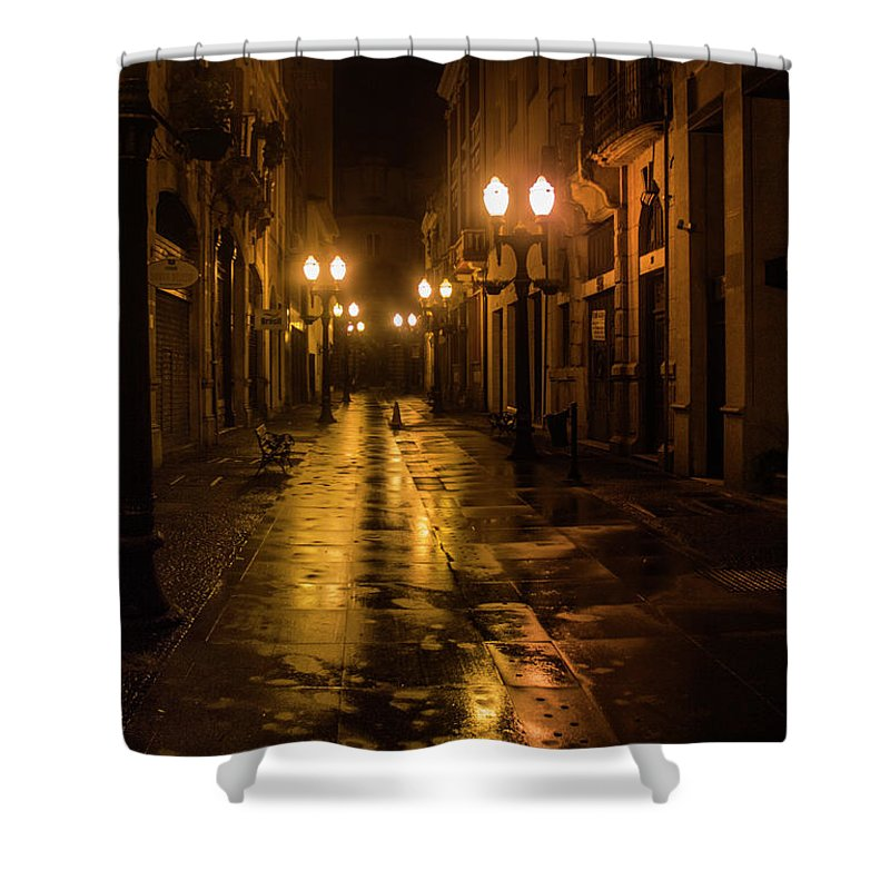 Downtown Shower Curtain featuring the photograph Donwtown by James Conway