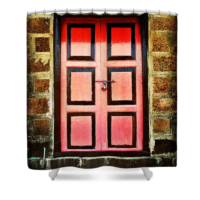 Shower Curtain featuring the photograph Door by Charuhas Images