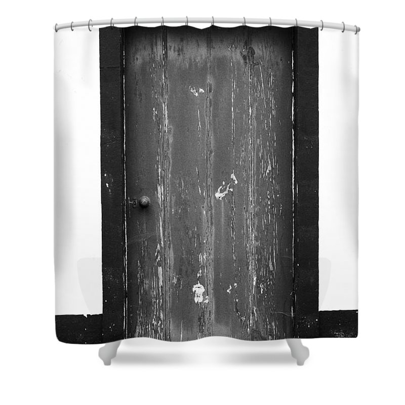 Closed Shower Curtain featuring the photograph Door by Gaspar Avila