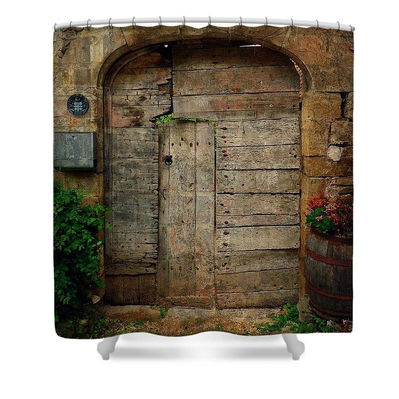 Door Shower Curtain featuring the photograph Door To The Secret Garden by Studio Yuki