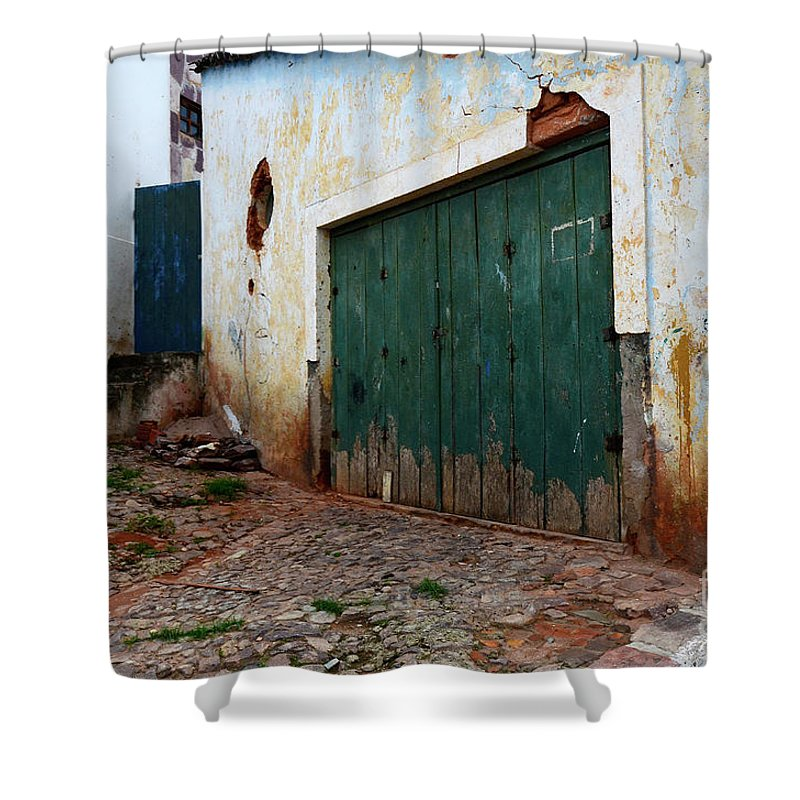 Door Shower Curtain featuring the photograph Doors And Windows Lencois Brazil 10 by Bob Christopher