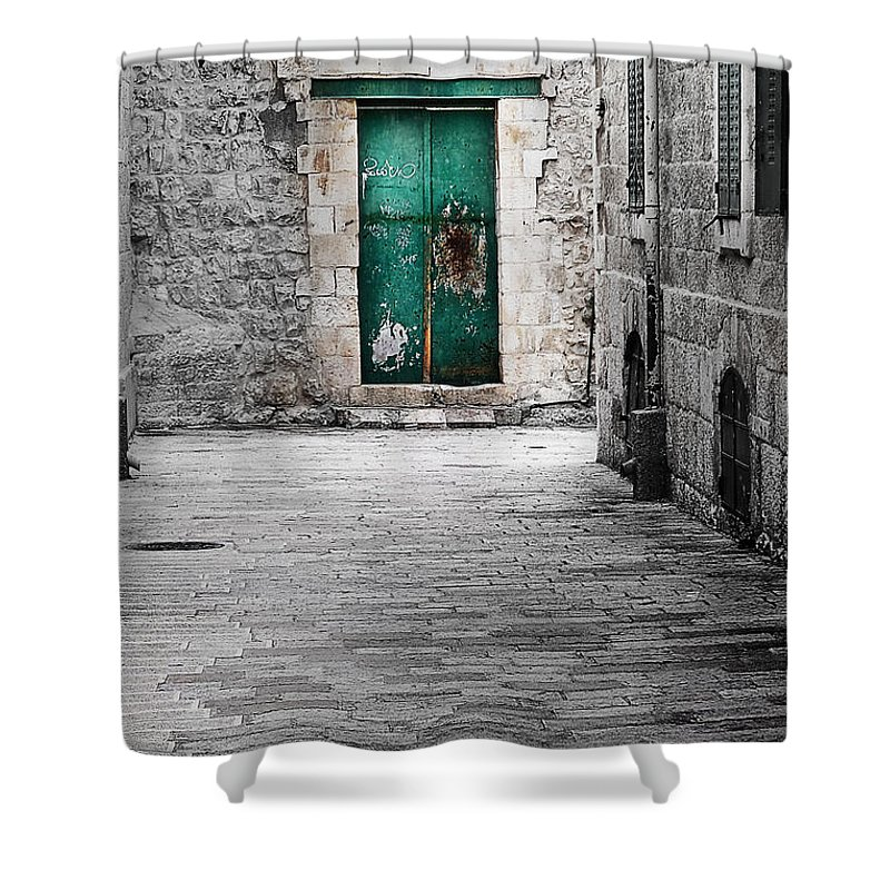 Israel Shower Curtain featuring the photograph Doors by Irma Robin