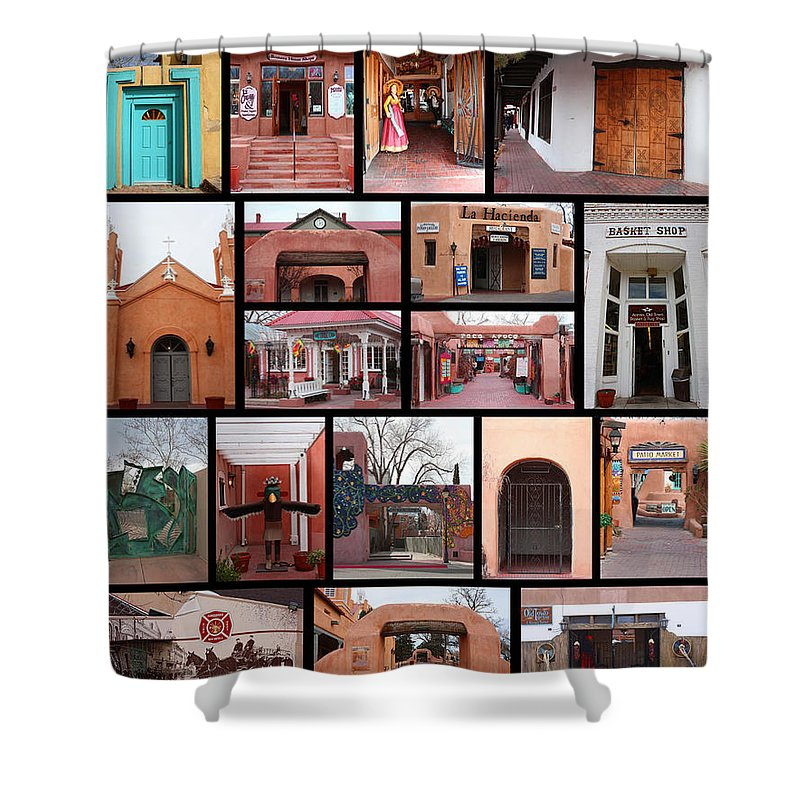 Albuquerque Shower Curtain featuring the photograph Doors Of Albuquerque by Tommy Anderson