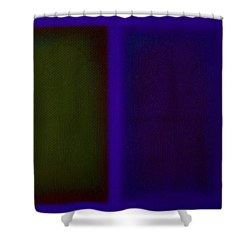 Rothko Shower Curtain featuring the painting Doors Of Perception by Charles Stuart