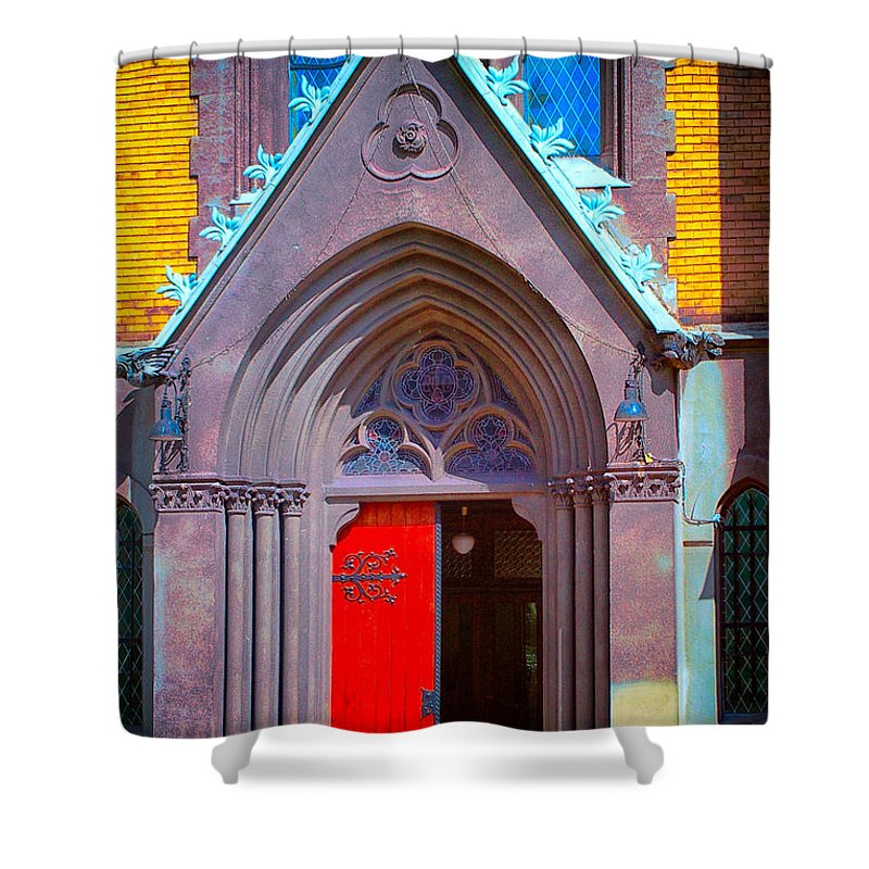 Gate To Heaven Shower Curtain featuring the photograph Doorway To Heaven by Mariola Bitner