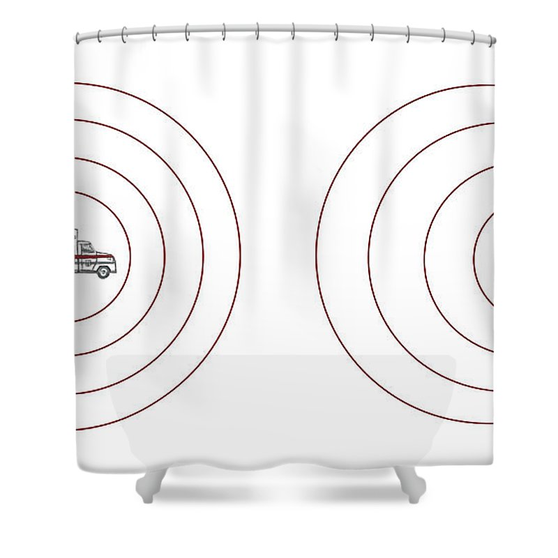 Doppler Shift Shower Curtain Featuring The Photograph Effect Illustration By Spencer Sutton
