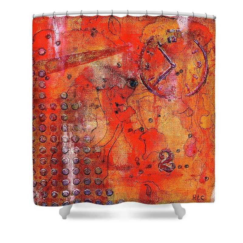 Dot Of Time Shower Curtain featuring the painting Dot Of Time by Bellesouth Studio