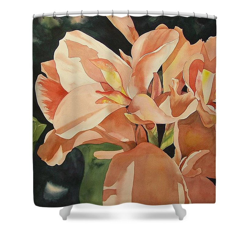 Floral Shower Curtain featuring the painting Dot's Favorites by Marlene Gremillion