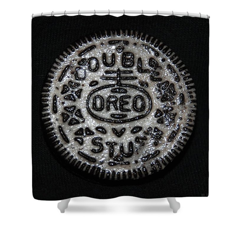 Oreo Shower Curtain featuring the photograph Double Stuff Oreo by Rob Hans