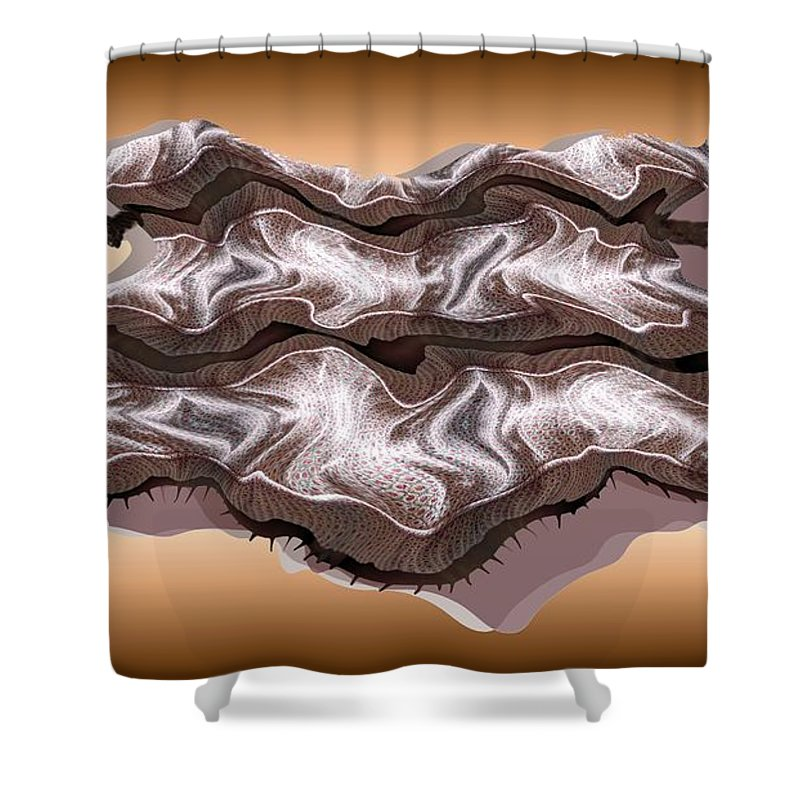 Abstract Shower Curtain featuring the digital art Doubt Its Redoubt by Ron Bissett