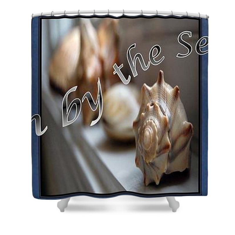 Shells Shower Curtain featuring the digital art Down By The Seashore by Robert Meanor