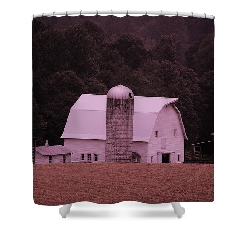 Barn Shower Curtain featuring the photograph Down On The Farm by Eric Liller