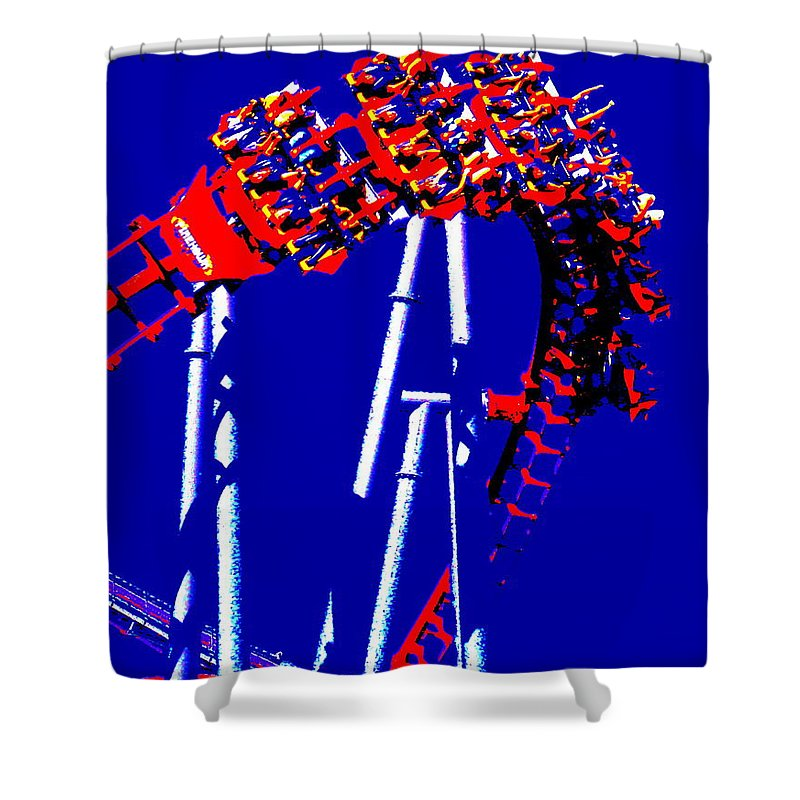 Down Side Up Shower Curtain featuring the photograph Down Side Up by Ed Smith