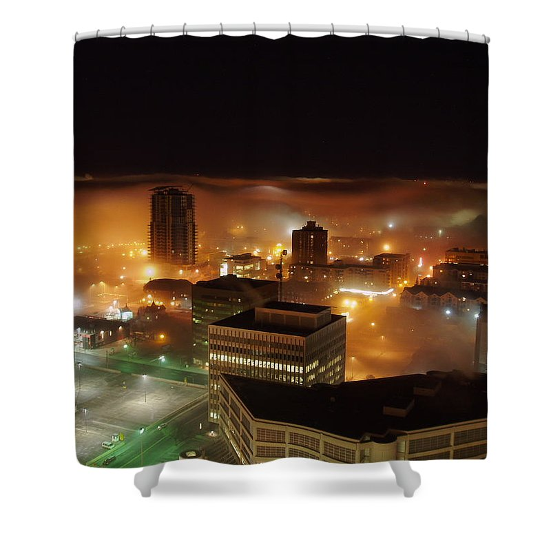 Photograph Calgary Shower Curtain featuring the photograph Downdown Calgary by Seon-Jeong Kim