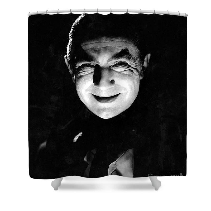 Dracula In The Shadows Shower Curtain featuring the photograph Dracula In The Shadows by R Muirhead Art