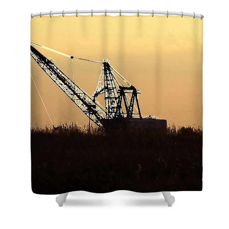Drag Line Shower Curtain featuring the photograph Drag Line by David Lee Thompson