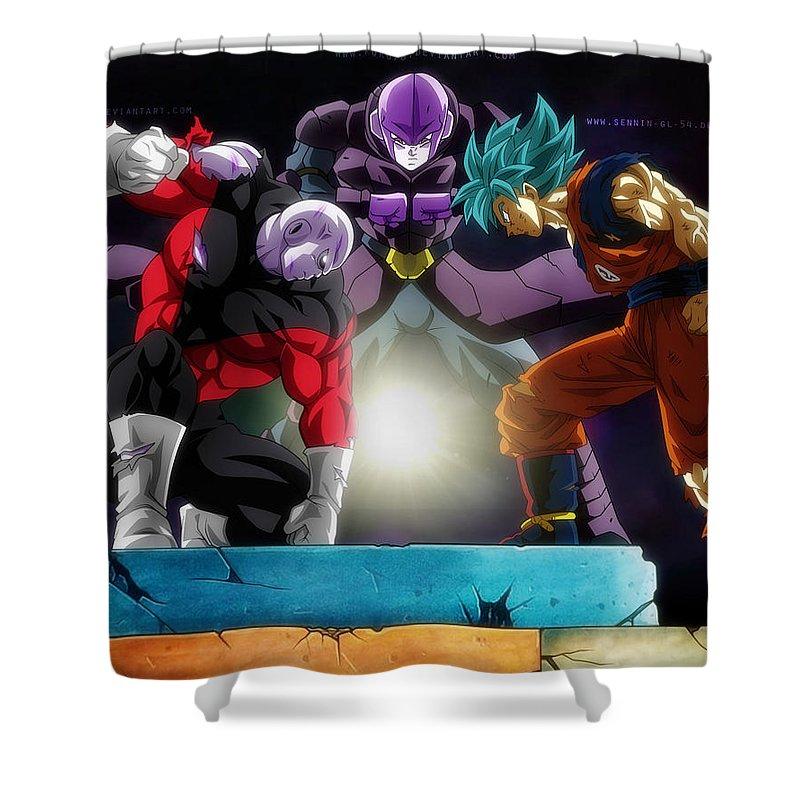 Dragon Ball Super Goku Hit Jiren Shower Curtain