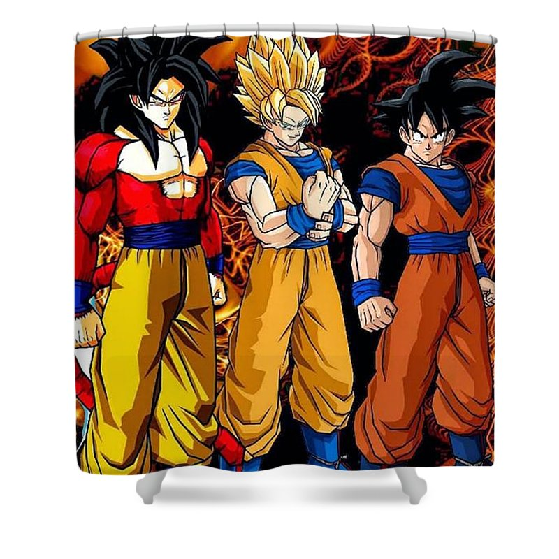 Dragon Ball Z Shower Curtain Featuring The Digital Art By Fernando Lara