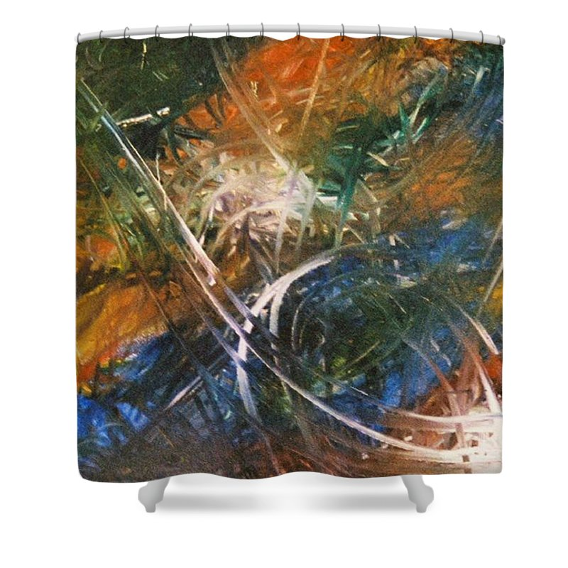Dragon Shower Curtain featuring the painting Dragon by Kim Rahal