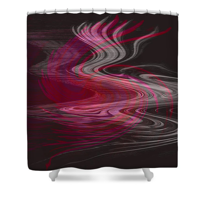 Abstract Shower Curtain featuring the digital art Dragon Queen by Linda Sannuti