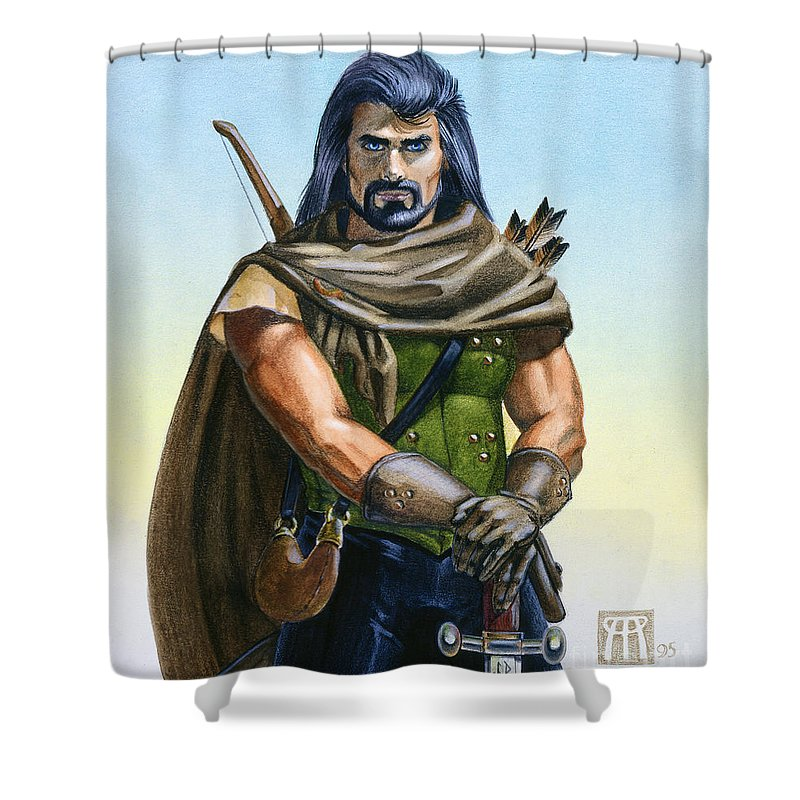 Ranger Shower Curtain featuring the painting Dragon Tracker by Melissa A Benson