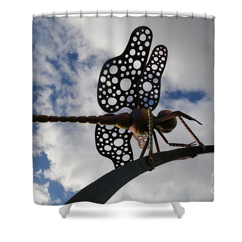 Dragonfly Shower Curtain featuring the photograph Dragonfly by Sandy Henderson