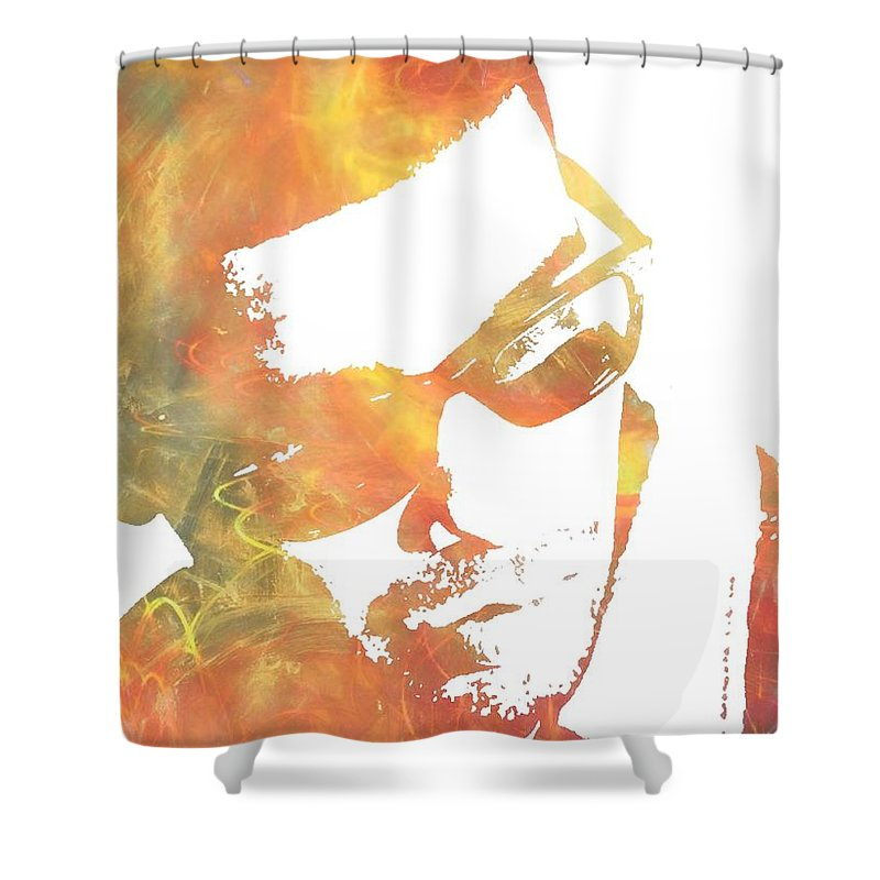 Drake Shower Curtain Featuring The Painting By Dan Sproul