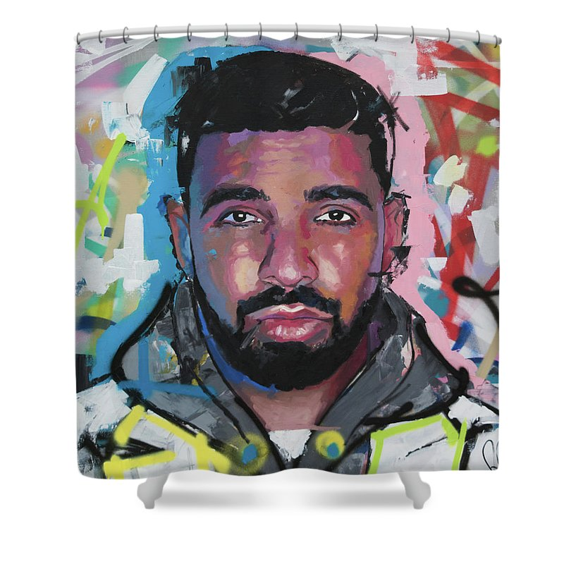 Drake Shower Curtain Featuring The Painting By Richard Day