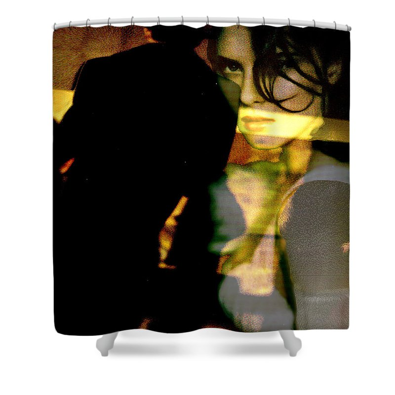 Mystery Shower Curtain featuring the digital art Drama After Dark by Seth Weaver