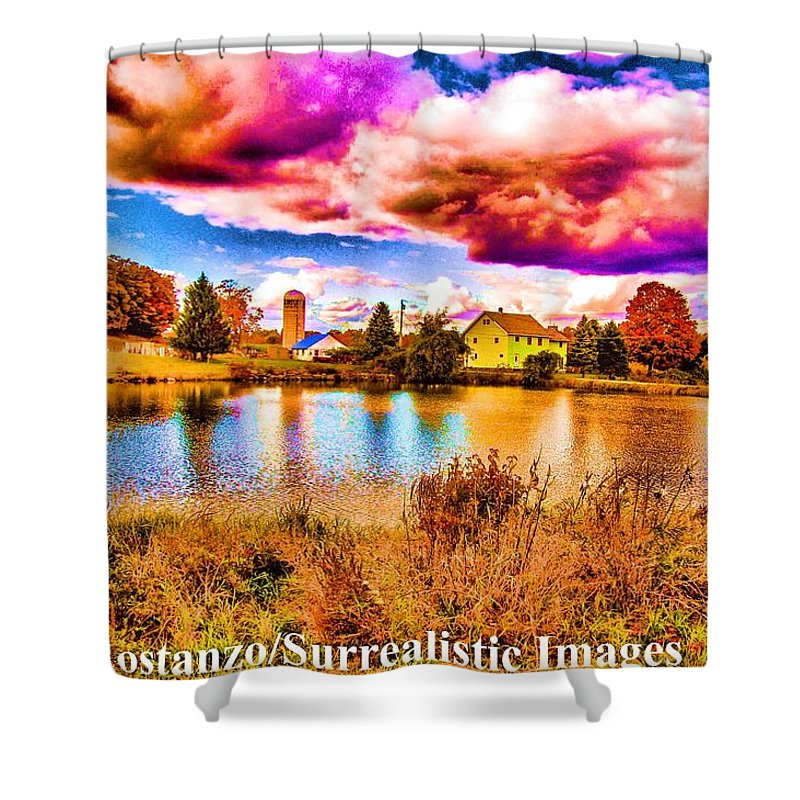 Fine Art Photography Shower Curtain featuring the photograph Drama by Nicholas Costanzo