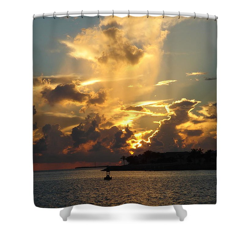 Photography Shower Curtain featuring the photograph Dramatic Clouds by Susanne Van Hulst