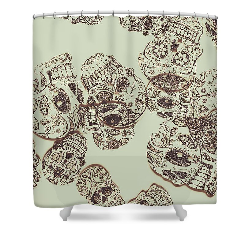 Skull Shower Curtain featuring the photograph Drawn Out Nightmares by Jorgo Photography - Wall Art Gallery