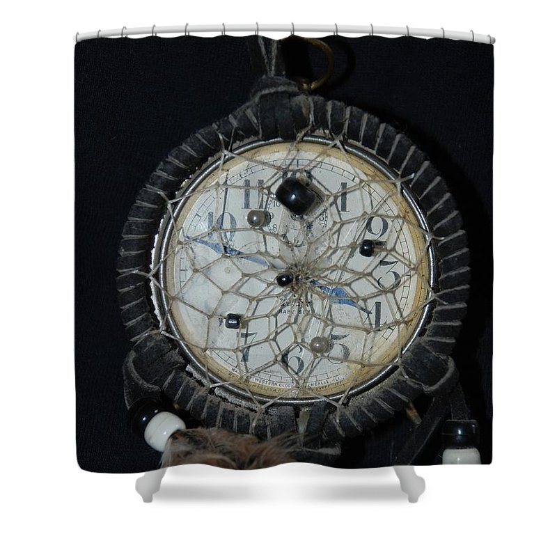 Dream Catcher Shower Curtain featuring the photograph Dream Catcher Time by Rob Hans