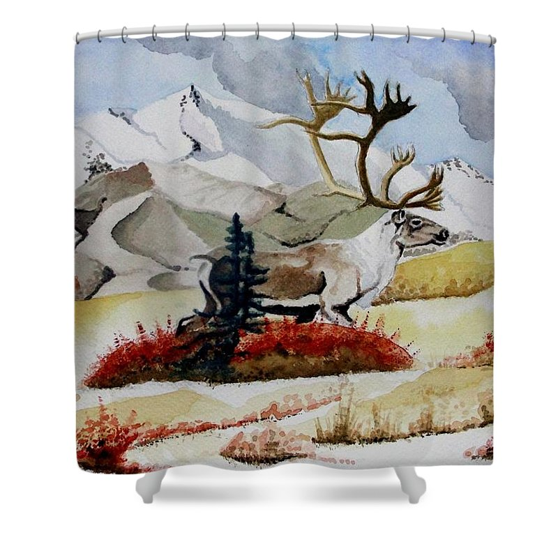 Alaska Shower Curtain featuring the painting Dream Hunt by Jimmy Smith