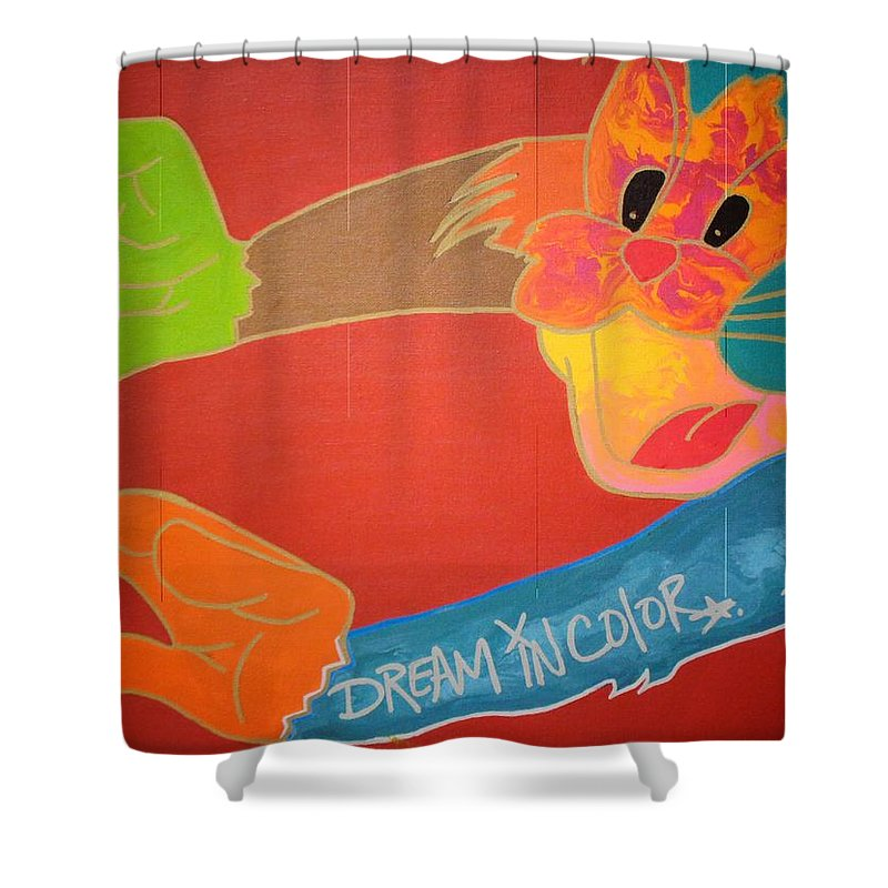 Fire Shower Curtain featuring the painting Dream In Color by Dane Newton