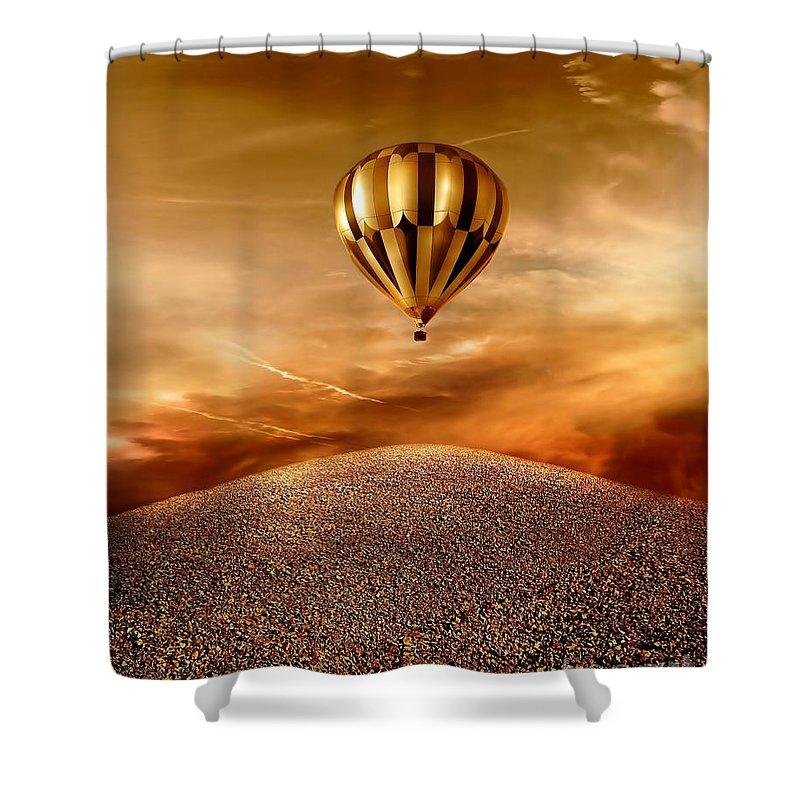 Golden Shower Curtain featuring the photograph Dream by Jacky Gerritsen