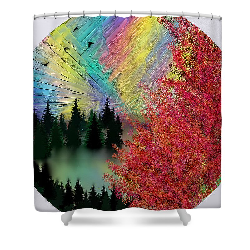Zh Dove Shower Curtain featuring the digital art Dream by ZH Dove