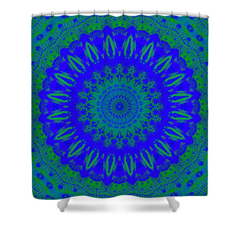 Digital Shower Curtain featuring the digital art Dreamer Kaleidoscope by Joy McKenzie