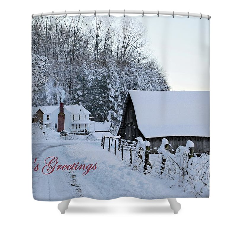 Virginia Shower Curtain featuring the photograph Dreaming Of A White Christmas by Benanne Stiens
