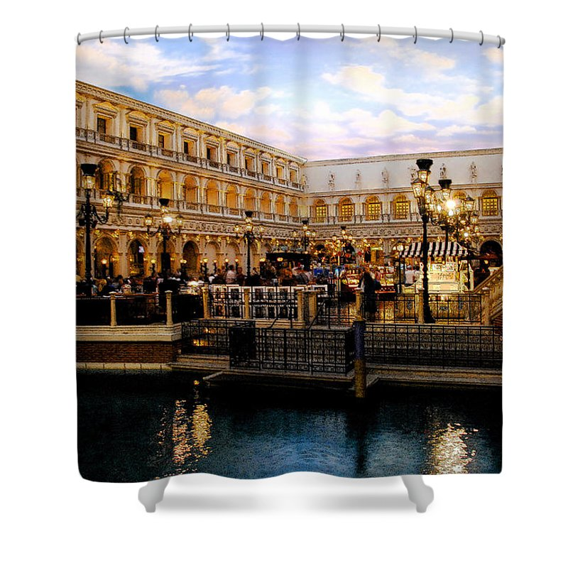 Venice Italy Shower Curtain featuring the painting Dreaming Of Venice by David Lee Thompson