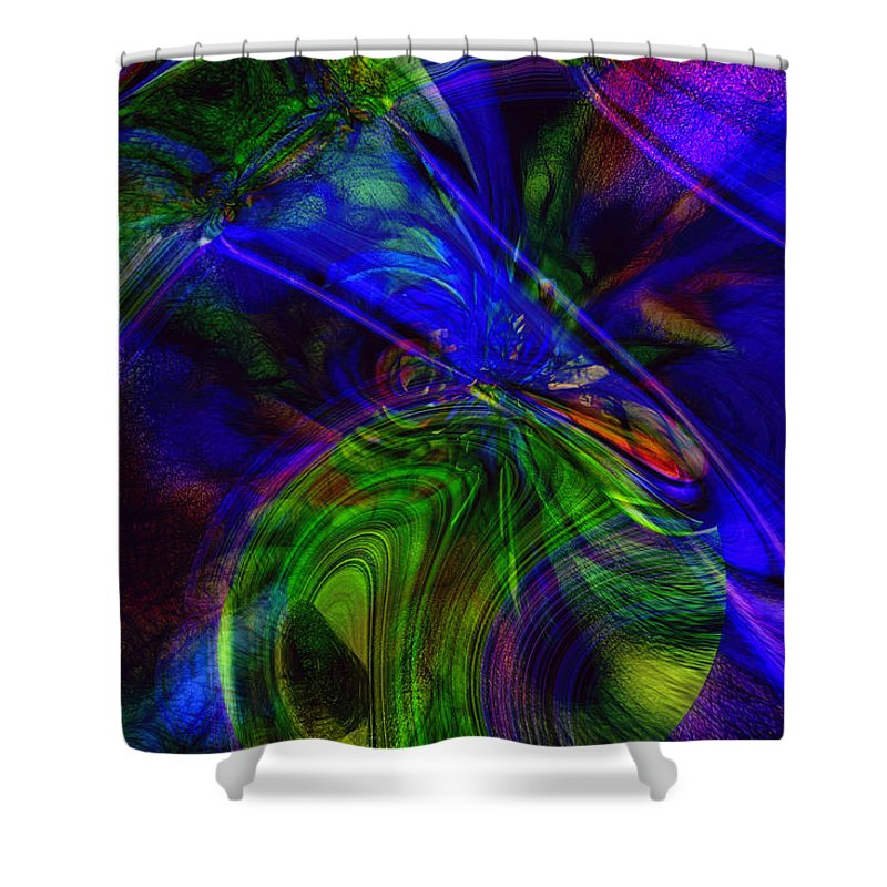 Abstract Shower Curtain featuring the digital art Dreams Journey Towards The New by Richard Thomas