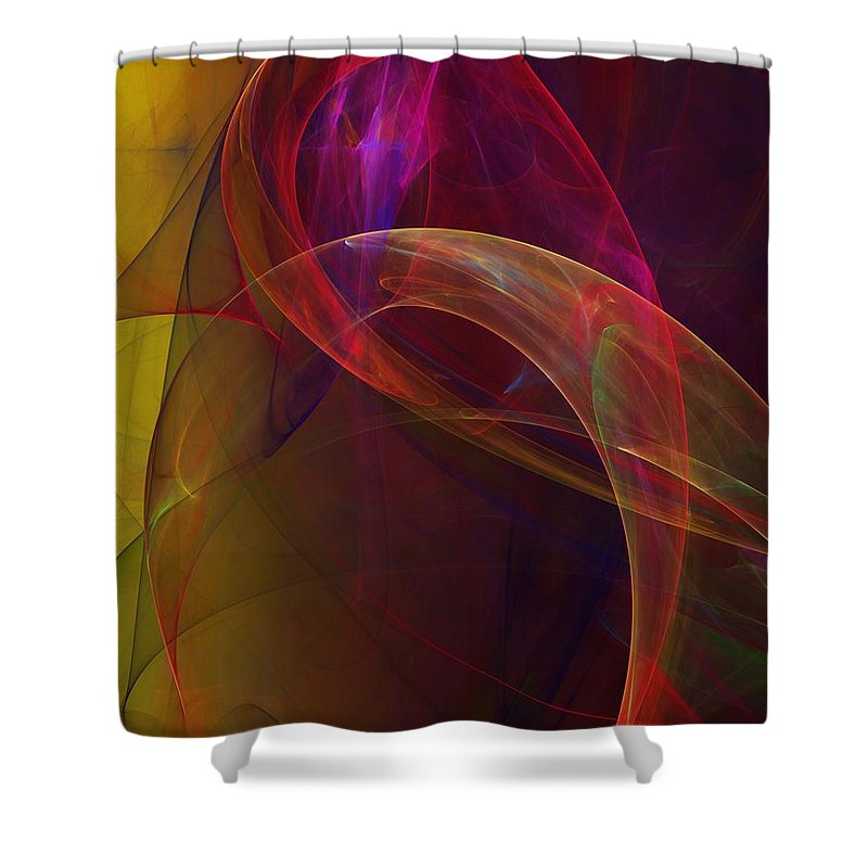 Fine Art Shower Curtain featuring the digital art Dreams Of Fish And Other Things by David Lane