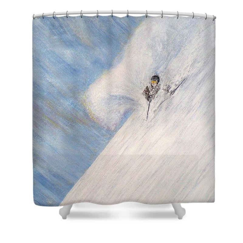 Landscape Shower Curtain featuring the painting Dreamsareal by Michael Cuozzo