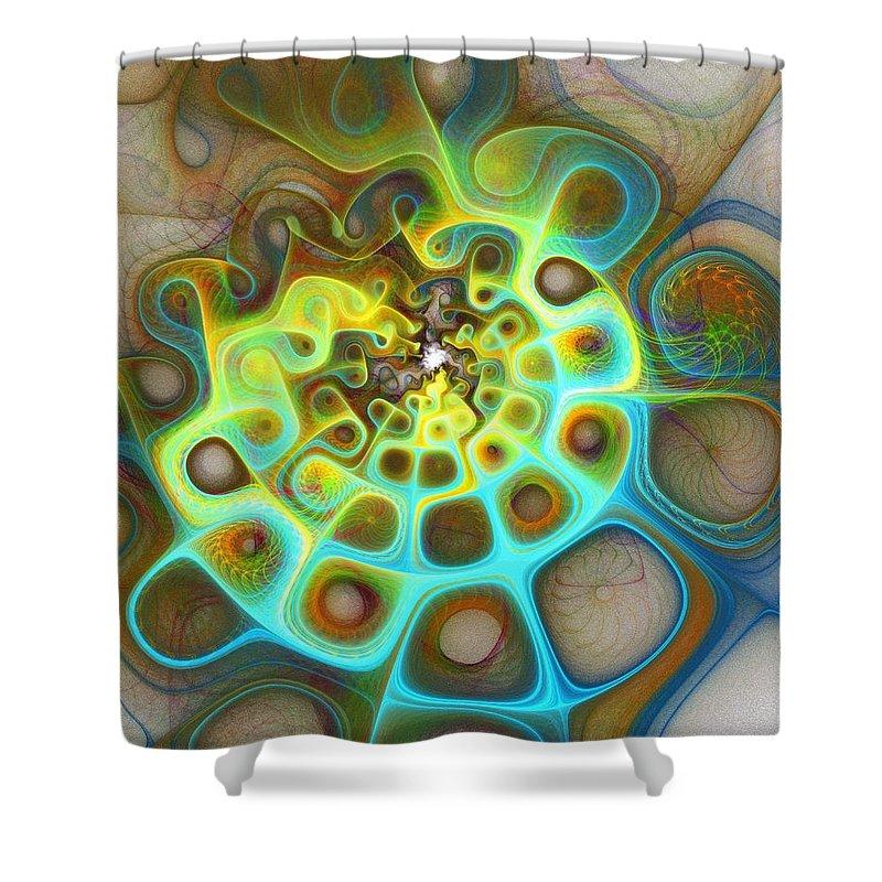 Digital Art Shower Curtain featuring the digital art Dreamscapes by Amanda Moore