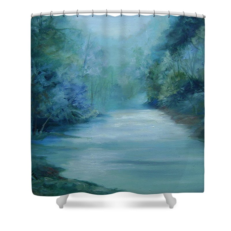 Burton River Georgia Shower Curtain featuring the painting Dreamsome by Ginger Concepcion